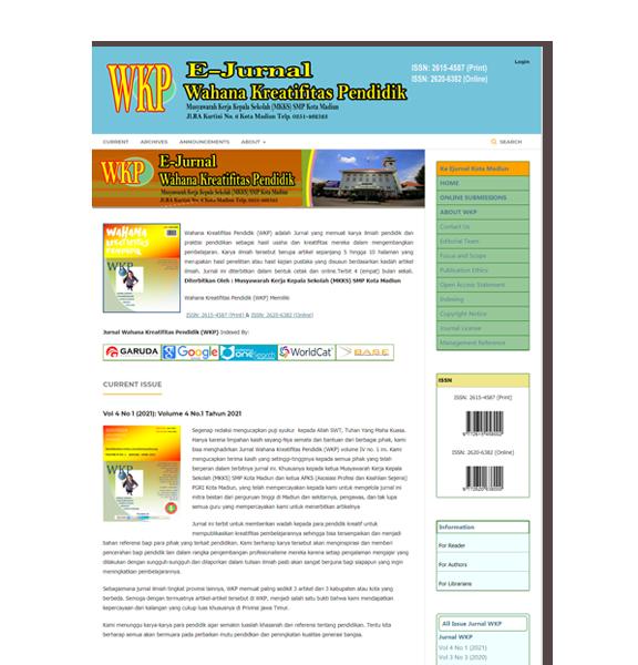 Jurnal WKP (Wahana Kreatifitas Pendidik)